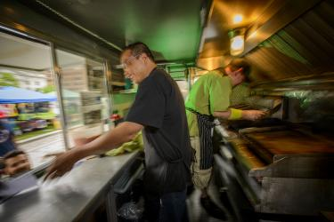 Inside View of Food Truck