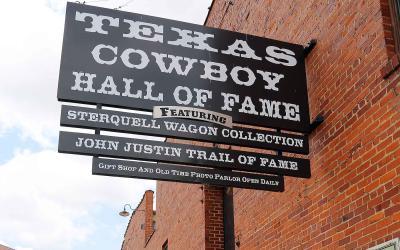 Texas Cowboy Hall of Fame sign