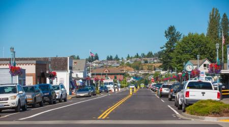 Steilacoom street view in Steilacoom, Washington