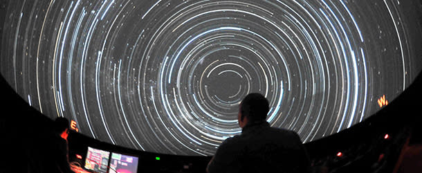 People Enjoying a Show at the Fiske Planetarium