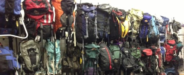 Hiking backpacks at Boulder Sports Recycler