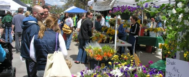 People Shopping at the Boulder Farmers Market
