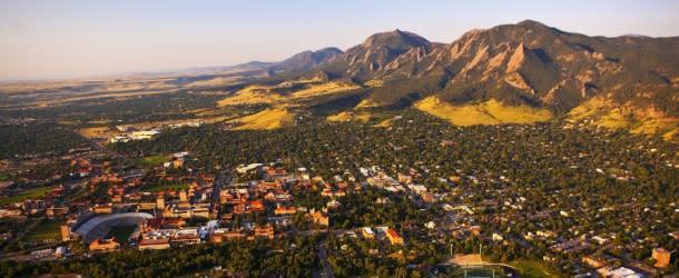 Aerial of Boulder, Colorado