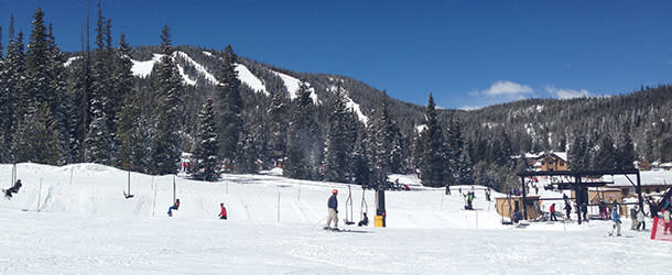 View of the Mountains and ski lift at the Eldora Mountain Resort