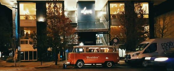 Boulder VW Visitor Bus at Rembrandt Yard