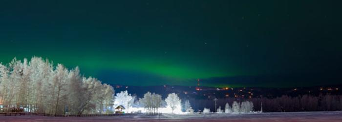 Aurora At Creamer's Field - Fairbanks, Alaska