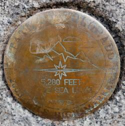 Mile High Marker in Denver