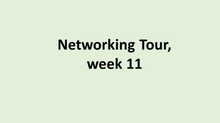 SE Networking Tour