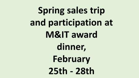 UK Spring sales trip and M&IT award