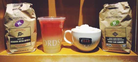 Nordstrom Espresso Bar drinks