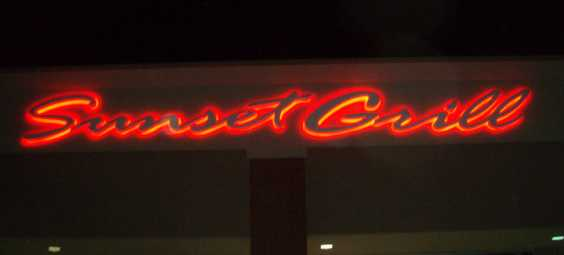Sunset Grill Sign