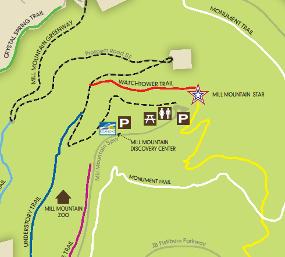 Mill Mountain Park Map Roanoke