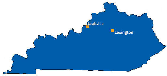 Lexington - Louisville map