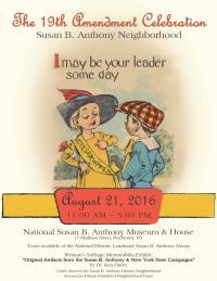 poster for the 2016 19th Amendment Festival