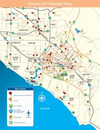 Point-of-Interest Map of Irvine, CA