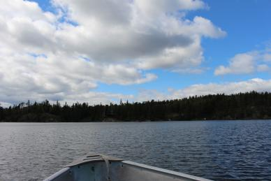Boat ride on High Lake in Whiteshell Provincial Park