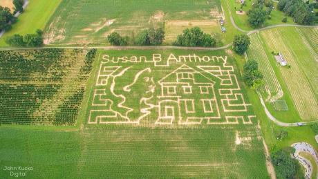 Susan B. Anthony Corn Maze at Stokoe Farms