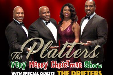 the platters very merry christmas show with special guest the drifters - White Christmas By The Drifters