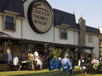 Enjoy great wine and great music in the great outdoors at Chateau Thomas Winery in Plainfield on Friday evening during Music on the Veranda.