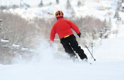 One Skier Bristol Mountain - Ontario County