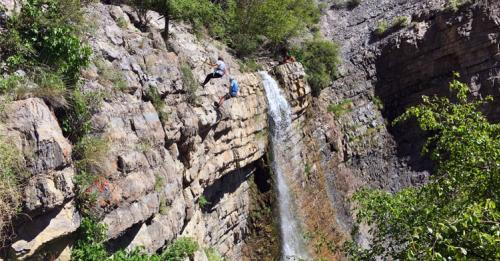battle creek falls repelling