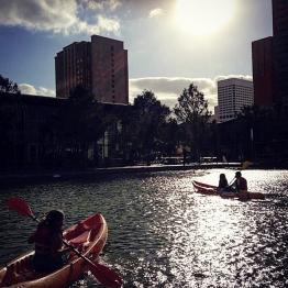 Discovery Green lake