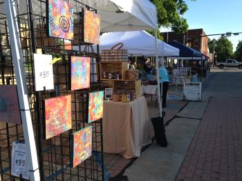 Handmade Market on Courthouse Square in Danville