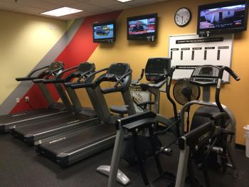 Cardio machines are just one option in Connection Pointe's fitness center!
