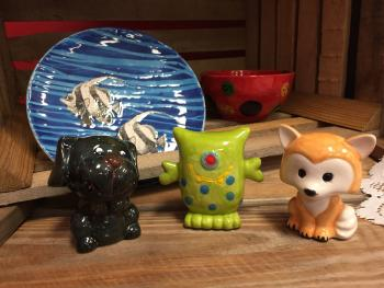Create your own pottery over Spring Break at the Bisque Barn in Avon!