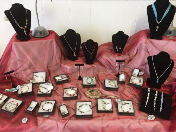 Some of the handcrafted jewelry available at The Artisan Marketplace in Plainfield.