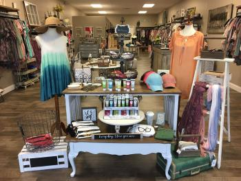 Sweet M's Boutique clothing display