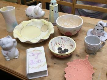 Color me Mine Table with Art