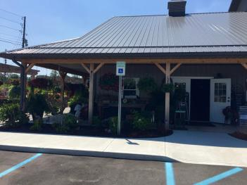 There is much to explore on the covered porch at Bear's Garden Center in Lizton before you even get inside.