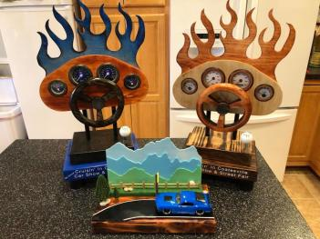 Custom trophies like these are up for grabs at Cruisin' in Coatesville this weekend! (Photo courtesy of Cruisin' in Coatesville Facebook page)