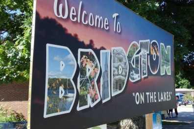 Bridgton town sign