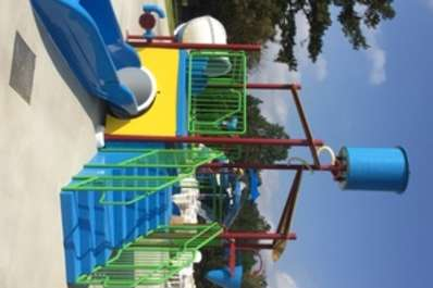 Sandy Beach Water Park Splash Pad For Kids