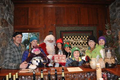 Santa Stops Here For Wine Tasting
