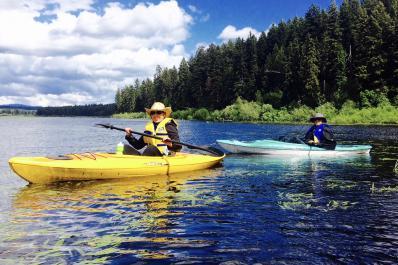 kayaking on Campbell Lake