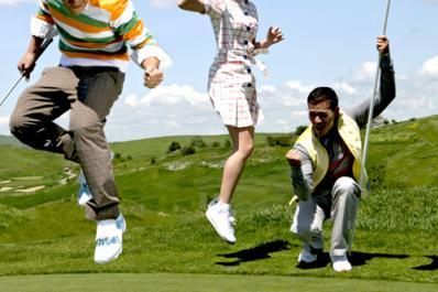 Cascades Golf Course Jumping