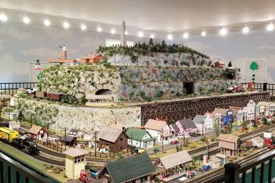 Friar Mountain Model Railroad from distance