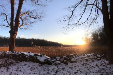 Kittatinny Valley State Park Scenic Sunset