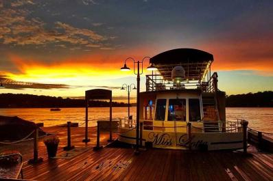 Lake Hopatcong Cruises Dock at Sunset