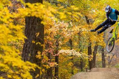 Mountain Creek Bike Park Fall Jump
