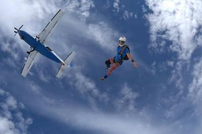 Skydive Sussex From Below