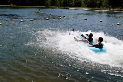 Tomahawk Lake Waterpark Tubing