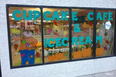 Cupcake Cafe Front Window