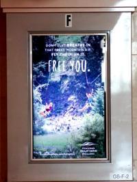2017 Summer Marketing Campaign - NJT Station Digital Screen - Pocono Mountains Visitors Bureau