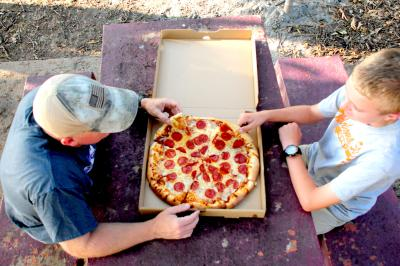 Pizza at Lake McMurtry