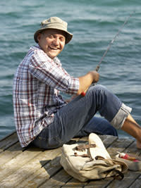 fisherman on dock