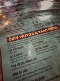 Sharky's Pub Menu